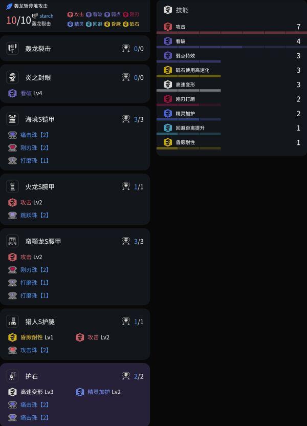 魔物獵人崛起-2.0版轟龍斬斧攻擊7與看破7配裝 1