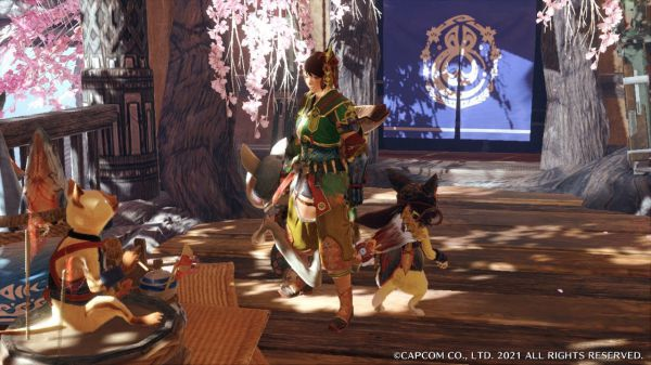 魔物獵人崛起-茶點店艾草幻化