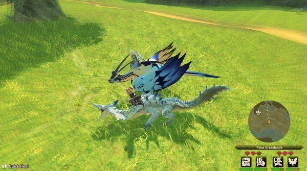 魔物獵人物語2破滅之翼-隨行獸駕馭動作實用性解析